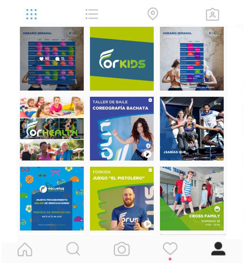 gestion de instagram para Forus